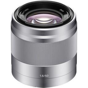 Sony SEL50F18 - E-Mount 50mm f/1.8 OSS Lens (Silver)