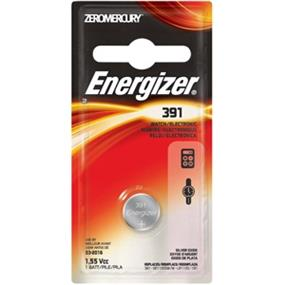 Energizer Zero Mercury 1.5V Watch Battery 391 (391BPZ)