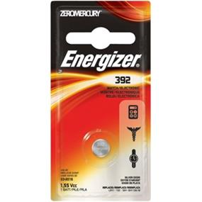 Energizer Zero Mercury 1.5V Watch Battery 392