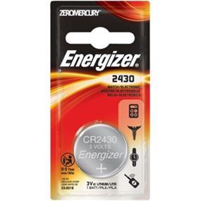 Energizer CR2430 3 Volt Lithium Coin Battery (ECR2430BP)