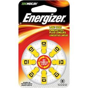 Energizer Size 10 Zinc-Oxide 1.4V Hearing Aid Batteries 8-Pack (AZ10DP8)