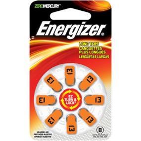 Energizer Size 13 Zinc-Oxide 1.4V Hearing Aid Batteries 8-Pack (AZ13DP8)