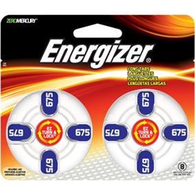 Energizer Size 675 Zinc-Oxide 1.4V Hearing Aid Batteries 8-Pack (AZ675DP8)