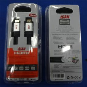 iCAN PERFORMANCE HDMI V2.0 28AWG W/ Ethernet, 3D, 4K Resolution, ARC, Gold Plated M/M - 6 ft.(STA-AH02)