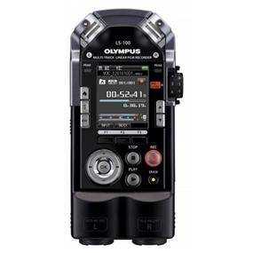 Olympus LS-100 Linear PCM Recorder - Built-in 4GB Memory, 90-Degree Directional Stereo Condenser Microphones