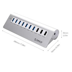 ORICO M3H73P 7Ports USB3.0 HUB +3 Charger Ports Aluminum alloy for Apple Products