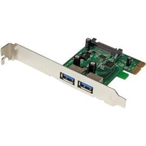 StarTech 2 Port PCI Express SuperSpeed USB 3.0 Card Adapter with UASP - SATA Power - Plug-in Card (PEXUSB3S24)