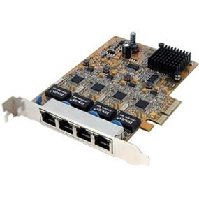 StarTech Gigabit Nettwork Adapter PCI Express x4, 4 x RJ-45 (ST1000SPEX4)