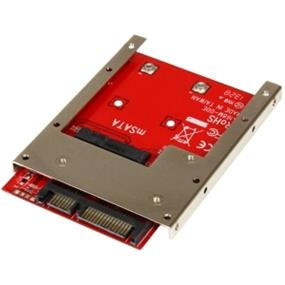 StarTech mSATA SSD To 2.5in SATA Adapter Converter - 1 x Total Bay - Serial ATA (SAT32MSAT257)