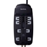 CyberPower CSHT808TC Home Theater 8-Outlets Surge Suppressor 8FT Cord and AV protection - 8 x NEMA 5-15R - 2850 J - 125 V AC Input - 125 V AC Output