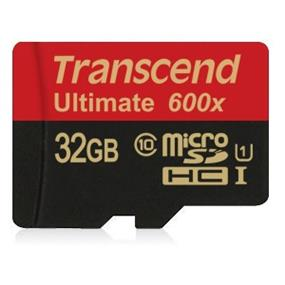 Transcend Ultimate 32GB microSDHC Class 10 UHS-I 600x Flash Card Upto 90MB/s Read, 60MB/s Write (TS32GUSDHC10U1)