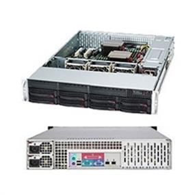 "Supermicro Case Rackmount CSE-825TQ-563LPB 2U 560W Black 8x3.5""SAS/SATA Slim DVD Retail"