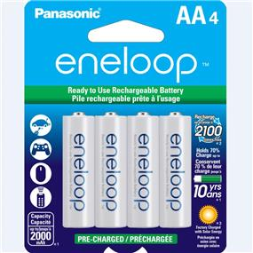Panasonic Eneloop AA-4 1.2V Ni-MH 2000mAh BK3MCCA4BA