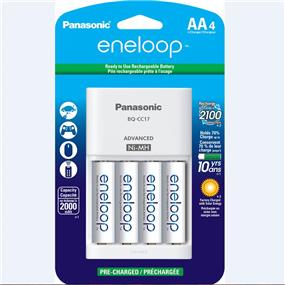 Panasonic Eneloop Smart Charger with 4-AA Combo Kit KKJ17MCA4BA