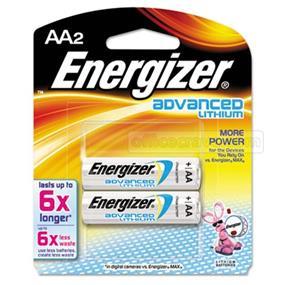 Energizer Advanced Lithium AA2 Battery (EA91BP2)