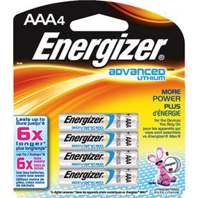 Energizer Advanced Lithium AAA4 Battery (EA92BP4)