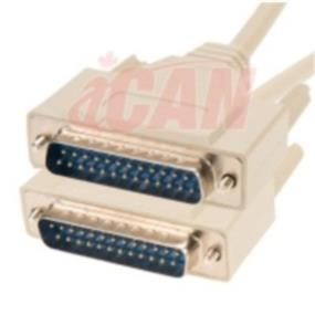 iCAN External Computer Serial Cable  (RS232), DB25, Male / Male, Straight-Through  Molded Connectors - 3 ft. (RS232-25MM-003)