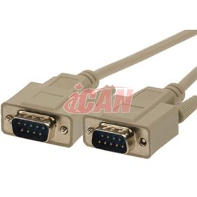 iCAN External Computer Serial Cable (RS232), DB9, Male / Male, Straight-Through  Molded Connectors -  15 ft. (RS232 9MM-15)