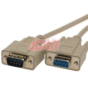 iCAN External Computer Serial Cable  (RS232), DB9, Male/Female Extension, Straight-Through  Molded Connectors - 25 ft.  (RS232-9MF-025)