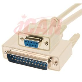 iCAN External Computer Serial ATA Modem Cable, DB9 Female/DB25 Male,Molded Connectors - 3 ft. (ASM925FM-003)