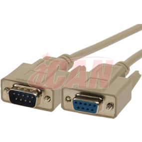 iCAN External Computer Serial Null Modem Cable, DB9,Male / Female, Molded Connectors - 10 ft. (NMDM-09MF-10)