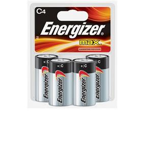 Energizer Max 4xC Alkaline Battery (E93BP4)