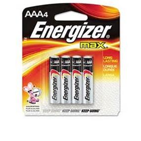 Energizer Max 4 x AAA Alkaline Battery E92BP4