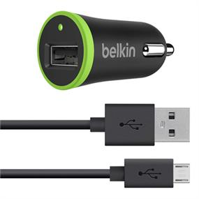 Belkin Universal Car Charger with Micro USB ChargeSync Cable, 10 Watt/ 2.1 Amp (F8M668bt04-BLK)