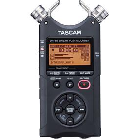 Tascam DR-40 - 4Track Handheld Digital Audio Recorder (Black)