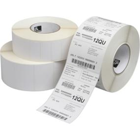 "Zebra Label Paper 2.25x1.25in Direct Thermal Zebra Z-Select 4000D - 2 1/4"" Width x 1 1/4"" Length - 12 / Carton - Rectangle - 2100/Roll - 1"" Core - Paper - Direct Thermal - White"