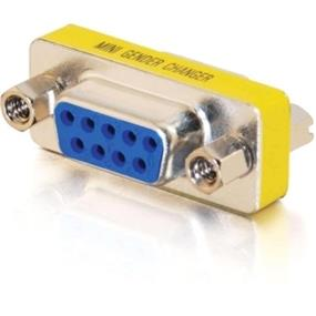 Cables To Go DB-9 Mini Gender Changer - 1 x DB-9 Female Serial - 1 x DB-9 Female Serial - Silver, Yellow (02781)