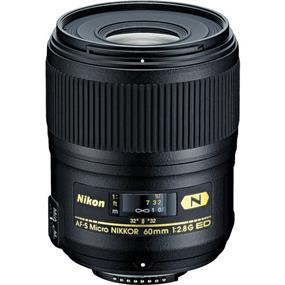 Nikon AF-S Micro-Nikkor 60mm f/2.8G ED Macro Autofocus Lens