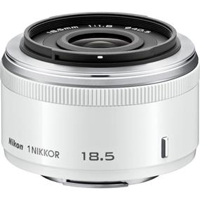 Nikon 1 Nikkor 18.5mm f/1.8 Lens for CX Format (White)