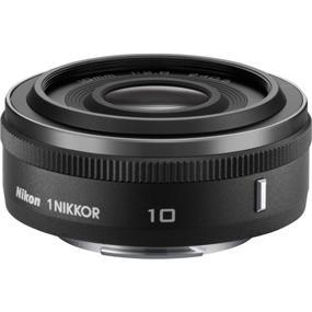 Nikon 1 Nikkor 10mm f/2.8 Lens (Black/Open Box) for CX Format