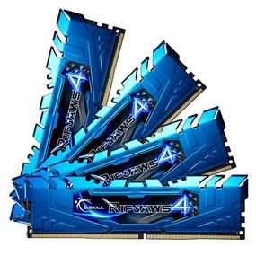 G.SKILL Ripjaws 4 Series 32GB (4x8GB) DDR4 2400MHz CL15 Quad-Channel DIMMs - Blue (F4-2400C15Q-32GRB)