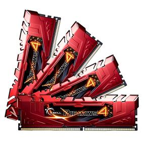 G.SKILL Ripjaws 4 Series 32GB (4x8GB) DDR4 2400MHz CL15 Quad-Channel DIMMs - Red (F4-2400C15Q-32GRR)
