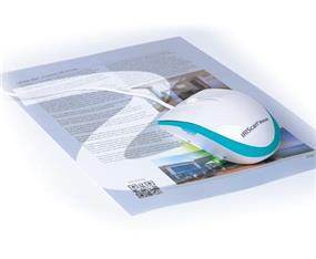 IRIScan Mouse Executive - All-In-One Scanner Mouse - White and Blue (458075)