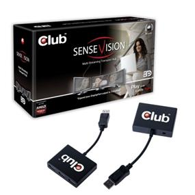 Club3D MST DisplayPort  HUB 3-1