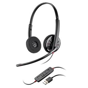 Plantronics Blackwire C320-M Over-Head Binaural Wired Headset - Black (85619-01)