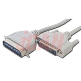 iCAN External Computer Printer Cable, DB25 Male - 25 ft. (for PC to Hi-Speed Printer) (PTRAB25C-025)