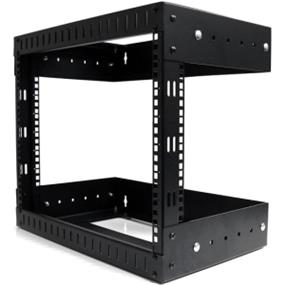 StarTech 8U Open Frame Wall Mount Equipment Rack - Adjustable Depth - 8U Wall Mounted (RK812WALLOA)