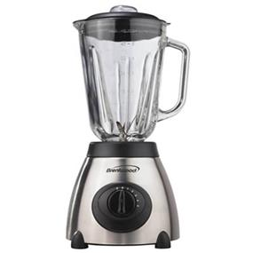 Brentwood 5 Speed 48oz Blender with Stainless Steel Base and Glass Jar - Brush Stainless Steel (JB-800)