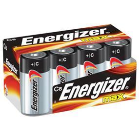 Energizer Max 8xC Alkaline Battery  (E93TP8)