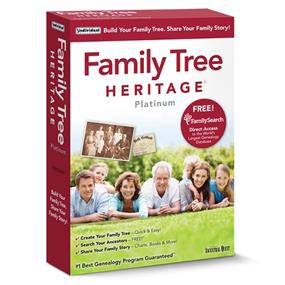 Individual software Family Tree Heritage Platinum 9 FR/EN