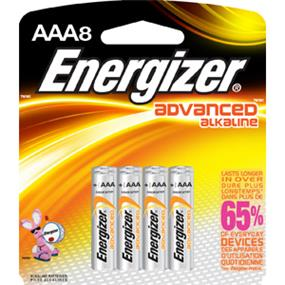 Energizer Advanced 8xAAA 1.5V Alkaline Batteries (AX92BP8)