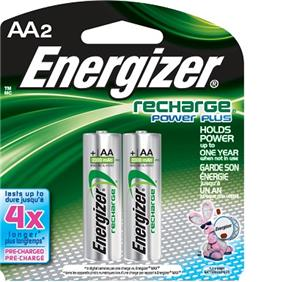 Energizer Rechargeable 2xAA  1.2V 2450mAh Batteries (NH15BP2) Ni-MH