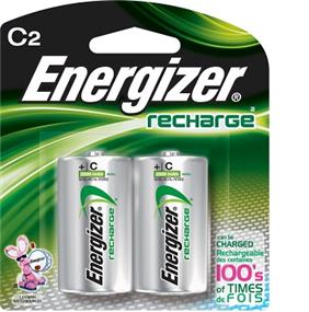 Energizer Rechargeable 2xC  1.2V 2200mAh Batteries (NH35BP2)