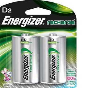 Energizer Rechargeable 2xD 1.2V 2200mAh Batteries (NH50BP2)