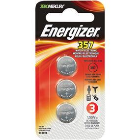 Energizer Zero Mercury Silver Oxide 357 Watch Battery 1.5V 3-PACK (357BPZ3N)