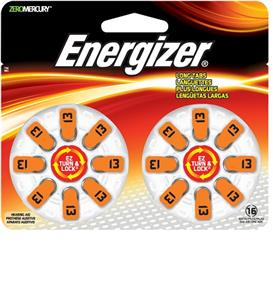 Energizer (AZ13DP16) Hearing Aid EZ turn Size 13 16 Pack